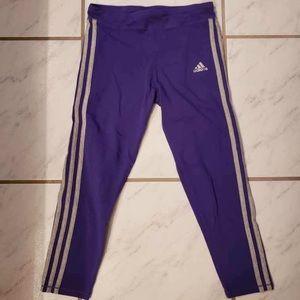 Purple adidas cropped leggings